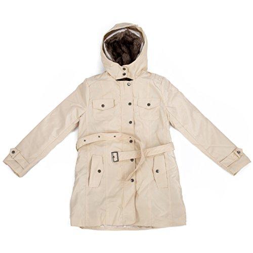 Larga Beige del invierno mujeres caliente capucha anorak espesan capa Chaqueta R Abrigo abrigo S con la SODIAL caliente w6W8na0qEx