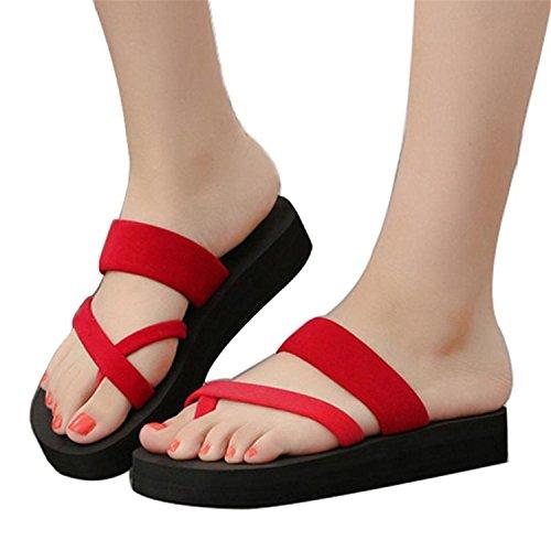 Flops Slippers 2 Fashion Women Mid Heel Jwhui Women Beach Flip Flip Slippers Flops Woman Sandals Shoes Summer Sandals Shoes Hgtg8qUX