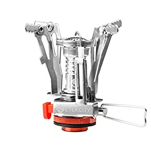 Etekcity Ultralight Portable Outdoor Backpacking Camping Stoves with Piezo Ignition (Orange)