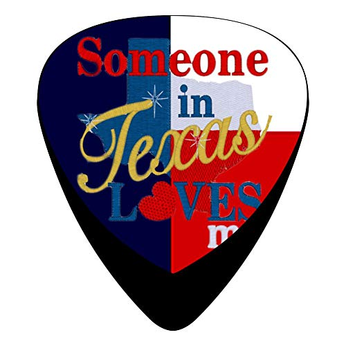 Loves Me Texas Guitar Picks Graphic Fashion Celluloid Plectrums 12-Pack