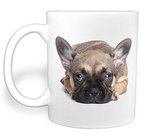 Big Puppy Dog Eyes French Bulldog - 11 Ounce Ceramic Coffee - Mug Ceramic Bulls
