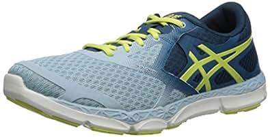 ASICS Women's 33-DFA Running Shoe, Milk Blue/Sunny Lime/Mosaic Blue, 7.5 M US