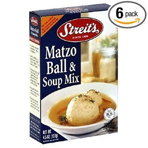 Streit's Matzo Ball & Soup Mix Kosher For Passover 4.5 oz. Pack of 6.