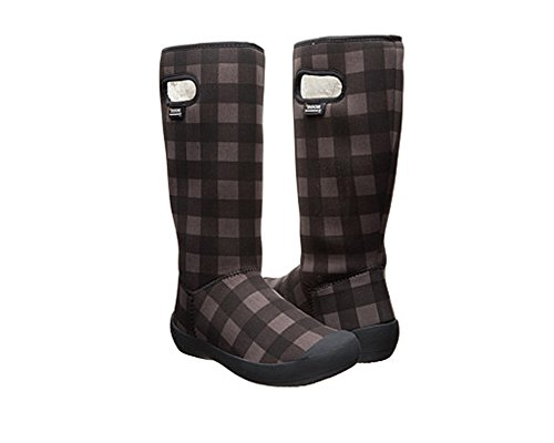 Bogs Women's Summit Buffalo Plaid Waterproof Insulated Boot, Black/Grey Buffalo Plaid Boot