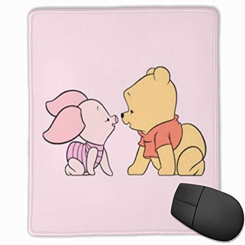 Winnie The Pooh and Piglet Mouse Pad, Non-Slip Rubber Base Gaming Mouse Pad with Locking Edge- 9.8