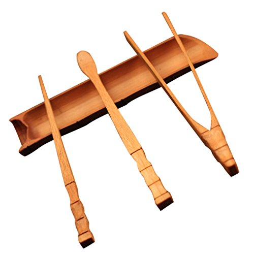 Bamboo Clip (MonkeyJack Tea Utensil Bamboo Tools Set Spoon Tea Ceremony Tea Pincer Clip Accessories)
