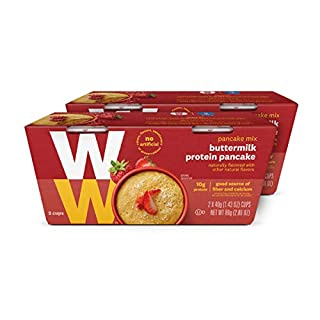 WW Buttermilk Protein Pancake - High Protein, 3 SmartPoints - 2 Boxes (4 Count Total) - Weight Watchers Reimagined