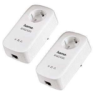 Amazon!D LAN Adapter: Hama Powerline Set 85 Mbps  im Doppelpack 27,95€ (statt59,99) oder einzeln 14,85€ (statt 39,99€)