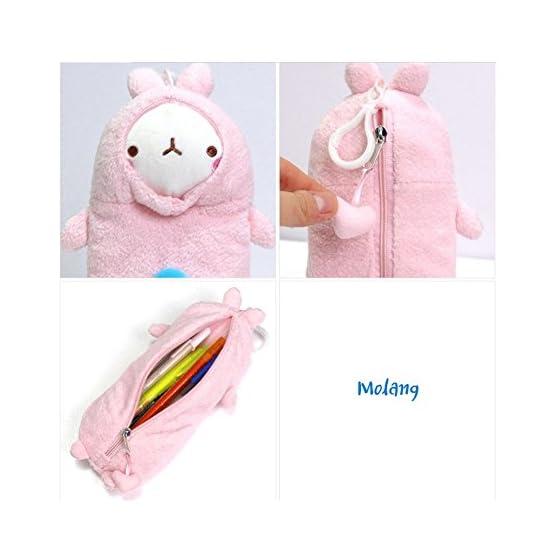 Molang Rabbit - Pink   10 Inch   Kawaii Pencil Case 5
