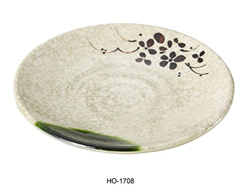 Yanco Honda Collection Japanese Style Melamine Round Plate 8 1/4 BOX of 24 by Yanco