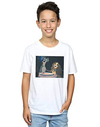 Lady Disney Tramp T Garçon And Spaghetti Blanc Slurp The shirt qxfrfZwI5