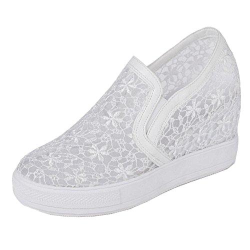 COOLCEPT Damen Sommer Keilabsatz Schuhe White-2