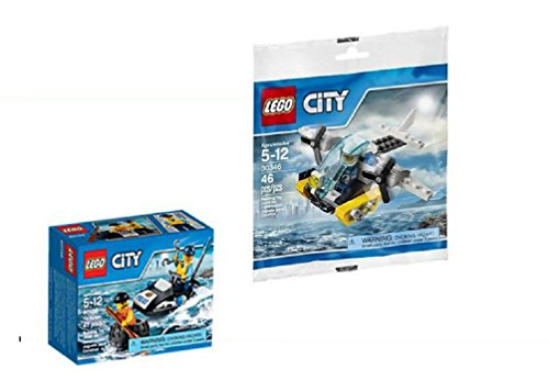 Lego City Tire Escape(60126) and Prison Island Helicopter(Polybag)(30346) Bundle - The Perfect Gift