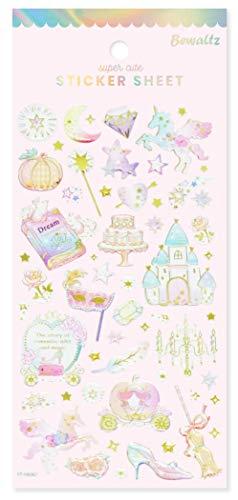 (Bewaltz Fairytale Sticker Pack 4styles, Birthday Party Supplies, Diary Decoration Sticker, Decorative Adhesive Sticker, School Classroom Rewards, Stickers for Kids - Size 3.5 x 8.5 Inch./Sheet)