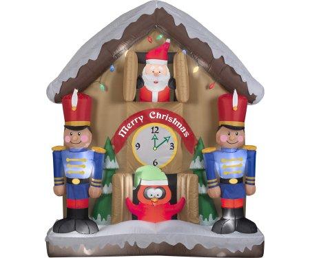 Gemmy Airblown Animated Santa Clock Inflatable (Sale Christmas Clocks)