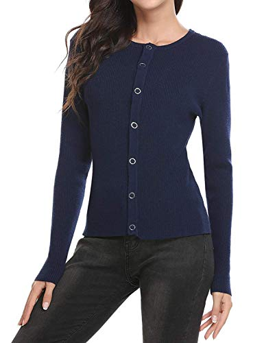 Uni Printemps Slim Mode Marine Casual Élégant Veste Manches Simple Long Chic Fit Jacken Manche Tricoter Femme Sweater Outerwear Automne Tricot Boutonnage En ITx7Zp