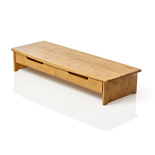 Prosumer's Choice Bamboo TV/Monitor Stand and Riser with Dua