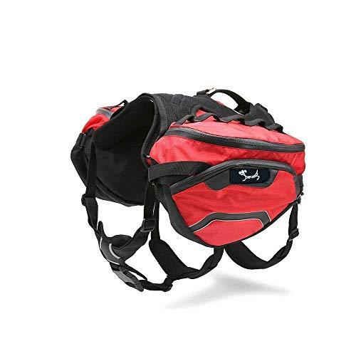 PETTOM Hunderucksack Schultertasche für Hunde und Katzen Transportbox Haustiertasche tragbar Tasche Waterproof Hund Pack…