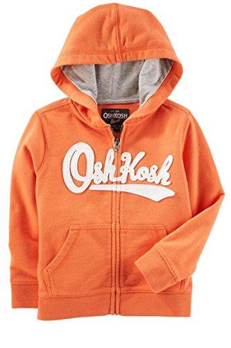 OshKosh B'Gosh Baby Boy French Terry Logo Hoodie (6-9M, Orange)