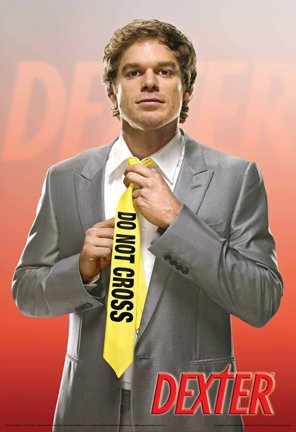 Dexter Poster Do Not Cross Tie Michael Hall, 24x36 Collections Poster Print, 24x36 Poster Print, 24x36