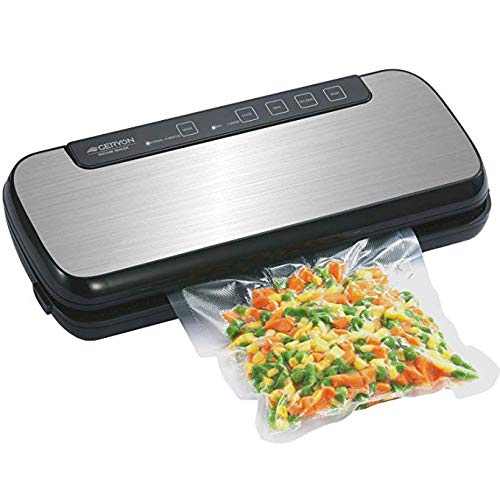 GERYON Vacuum Sealer, Automatic Food Sealer Machine with Starter Kit of Saver Roll, Bags and Hose for Food Preservation Stainless Steel