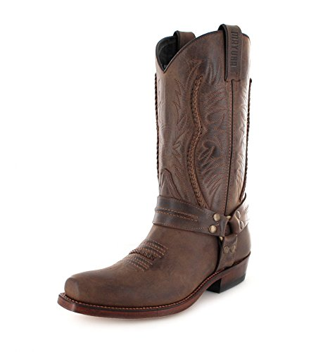 Boots Unisex MB007 Biker Adult Sadale Brown Boots Mayura XqOz5