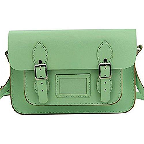 Top Grade Genuine Leather (Damero 13 Inches Genuine Leather Women Cross Body Bag Ladies Briefcase Messenger Satchel Purse)