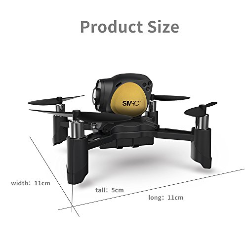 WARMSHOP DIY M96 Altitude Hold Quadcopter With WiFi 2.0mp Camera Remote Control Drone Helicopter (Gold) by WARMSHOP