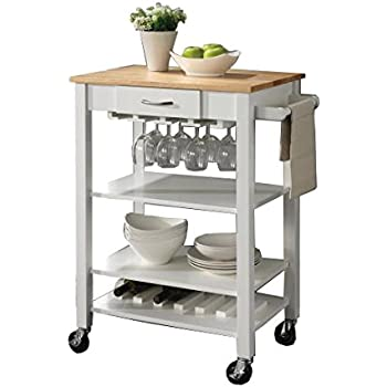 Amazon Com Coaster Home Furnishings Kitchen Cart With
