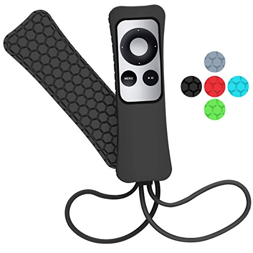 Price comparison product image Apple TV Remote Case - Sahiyeah Light Weight Anti Slip Waterproof Shockproof Silicone Protective Case Cover for Apple TV 2 3 Remote Controller,Black