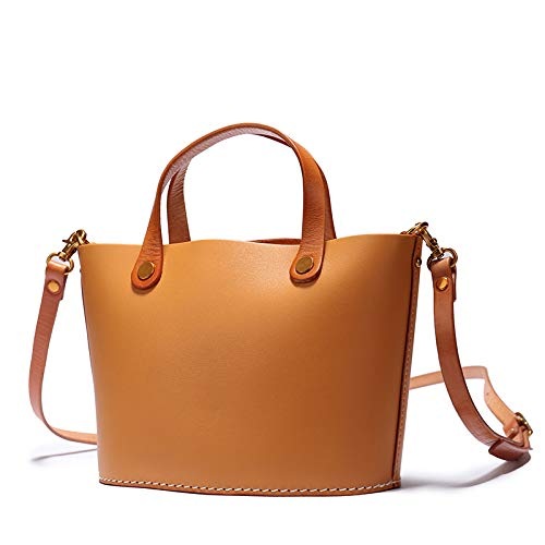 Rétro Bucket Lady's Leather Bandoulière Sacoche Capacité Simple à Bag Sac Grande Cx6qwPv