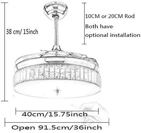 36″ Crystal Ceiling Fan