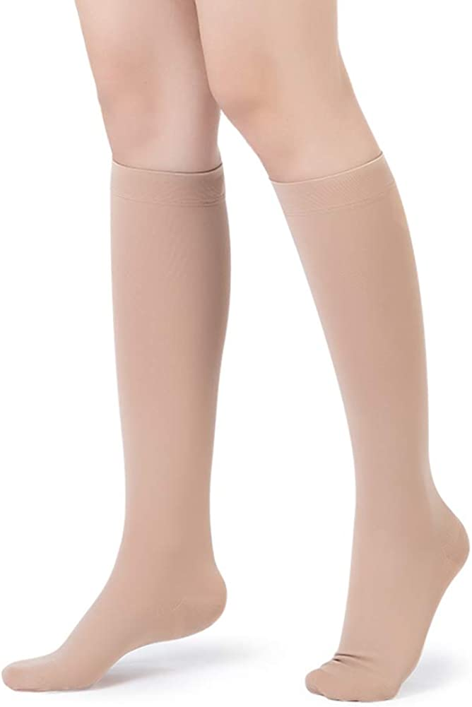 AIYOGA 20-30 mmHg Medical Closed Toe Knee High Compression Socks Hose