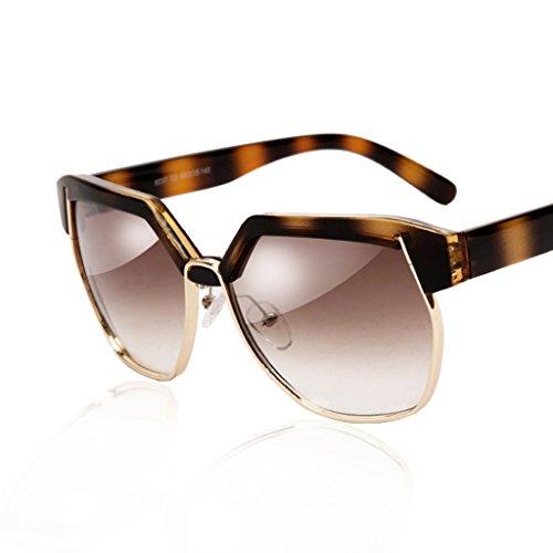 de mujer semirremolque Color sol gafas QQB de A retro grande sol Gafas Gafas de sol de A montura de Gafas poligonales 7wwq8gxUO