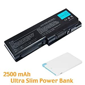 Battpit Bateria de repuesto para portátiles Toshiba PA3536U-1BRS (4400 mah) con Ultra-Compacto 1A Batería externa Cargador USB portátil 2500mAh con Lightning para iPhone 5/5s/5c/6/6 Plus, iPad Air / Mini, Micro USB para Android smartphones.