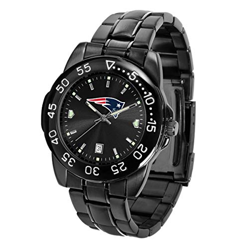 Game Time NFL New England Patriots Mens FantomWrist Watch, AnoChrome Black, One Size
