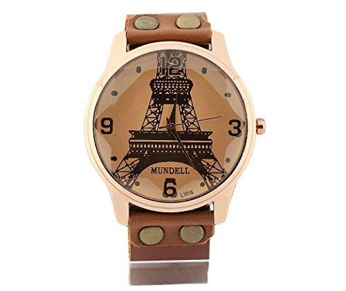 Cool reloj Vintage joyas hombres relojes de pulsera, reloj de la torre Eiffel: Amazon.es: Relojes