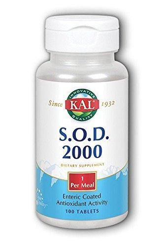Kal - SOD 2000 Antioxidante revestido entérico - 100 tabletas