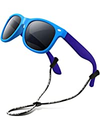 Rubber Kids Polarized Sunglasses With Strap Shades...