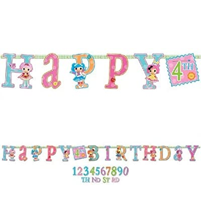 Adorable Lalaloopsy Jumbo Add-An-Age Letter Banner Birthday Party Decoration (1 Piece), Multi Color, 10'.: Toys & Games