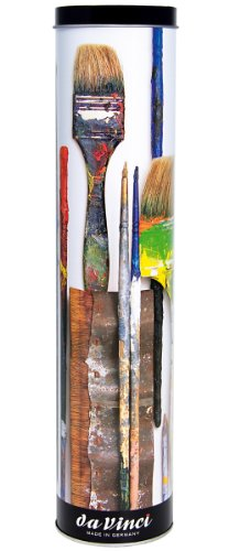 - da Vinci Oil & Acrylic Series 5403 College Paint Brush Set, Synthetic with Gift Can, Multiple Sizes, 10 Brushes (Series 8733 and 8740)