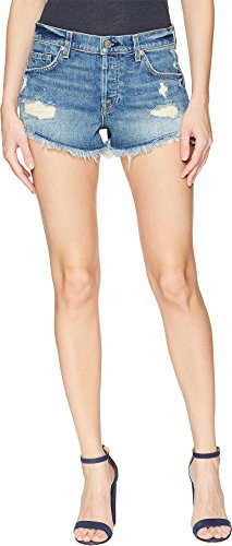7 For All Mankind Women's Boyfriend Shorts w/Wave Hem in Canyon Ranch 6 Canyon Ranch 6 28 2.5 ()