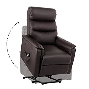 Unionline PU Leather Power Lift Chairs Recliner For Elderly Wall Hugger  With Remote Control (New