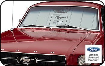 (CoverCraft UFM11372SV UVS100 Mustang 50 Years UV Shields - Silver)