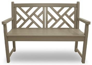 POLYWOOD CDB48SA Chippendale 48 Bench, Sand