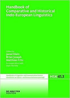 Handbook of Comparative and Historical Indo-European