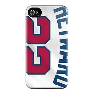 AlissaDubois Iphone 4/4s Protective Hard Phone Cover Allow Personal Design Nice Atlanta Braves Skin [iGz15202Zhya]