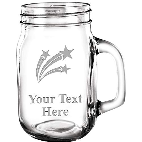 (Custom Mason Jars, Custom 15 oz Mason Jar Customized Great Personalized Gift Prime)