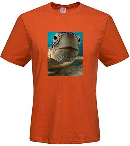 DIY mens Sea Turtle T-shirts,custom cotton Tshirt