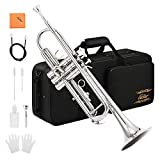 Eastar ETR-380N Trumpet Standard Bb Nickel Trumpet Set For Student Beginner With Hard